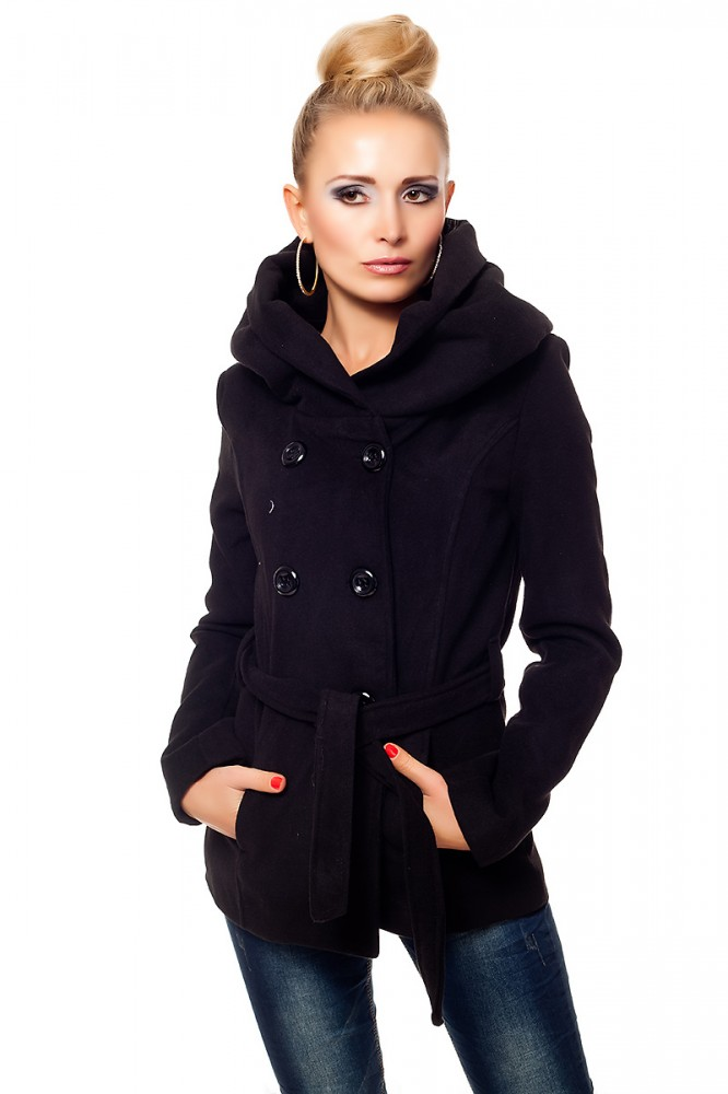 damen trenchcoat winterjacke schwarz trenchcoat gro er. Black Bedroom Furniture Sets. Home Design Ideas